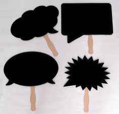 Chalk Board with Handles. Waterproof and Durable. For Photo booth and Photo Props.. $14.00, via Etsy.