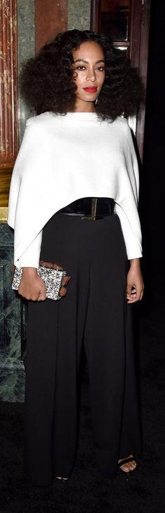 Solange Knowles at Paris Fashion Week Fall 2015