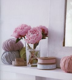 """from Debbie Bliss """"The Knitter's Year"""": peonies make everything more beautiful"""