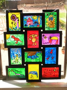 More faux stained glass.