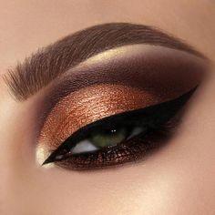 Shimmer Eye Makeup, Bronze Makeup, Eye Makeup Art, Smokey Eye Makeup, Eyeshadow Makeup, Beauty Makeup, Fairy Makeup, Mua Makeup, Mermaid Makeup