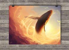 Poster A3 Baleine volante