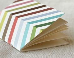 Jotter Pocket Notebook Mini Journal  Technicolor by witandwhistle