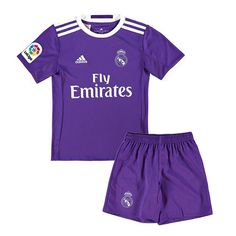 Camiseta Real Madrid Ninos Segunda 2016-17 Nueva Camiseta Real Madrid 051290a5b9509