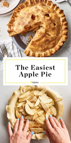 The easiest Apple Pie. Here It Is: An Apple Pie You Can Make on a Weeknight Apple Pie Recipes, Apple Desserts, Dessert Recipes, Lime Desserts, Holiday Desserts, Plated Desserts, Cooking Time, Cooking Recipes, Easy Pie