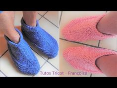 Tuto Tricot chaussons Adulte 38/40 - 42/44 - 46/48 facile à tricoter en 1 pièce - YouTube Slipper Boots, Baby Knitting Patterns, Kids And Parenting, Slippers, Socks, Booty, Point Mousse, Motifs, 1 Piece