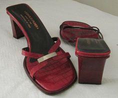 Donald J Pliner red sandals Sz M, excellent condition!