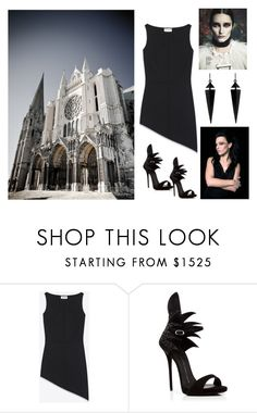 """Gothic"" by julie4ever ❤ liked on Polyvore featuring Yves Saint Laurent, Giuseppe Zanotti and Oasis"