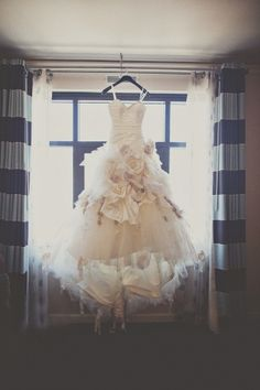 flower bomb wedding dress by Ian Stuart