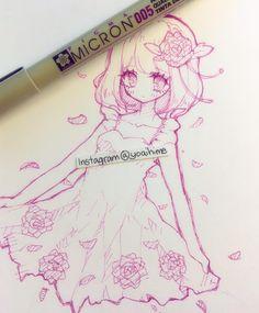 Anime sketch tootokki anime drawings pinterest anime for Something hard to draw