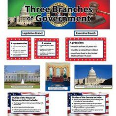 Three Branches Of Government Mini Bulletin Board Set