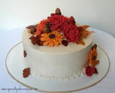 Fall Bouquet Cake