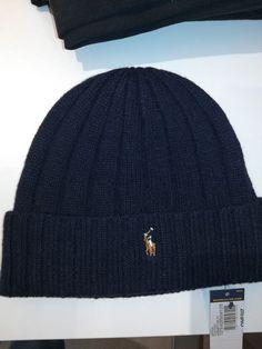 172a64c0848 NWT Ralph Lauren Polo Merino Wool Winter Beanie Cuffed- Navy  fashion   clothing  shoes  accessories  mensaccessories  hats (ebay link)