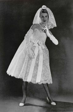 1958 Yves Saint Laurent For Dior Wedding Dress All Kinds Of Weird With This Photo