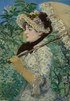 Edouard Manet, Spring; the first of the artist's series of portraits of the seasons.