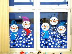 Christmas Window Decorations, School Decorations, Easy Crafts, Diy And Crafts, Crafts For Kids, Ventana Windows, Vegetable Crafts, Winter Art, Christmas Activities