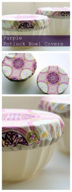 Sewing Crafts To Make and Sell - Purple Potluck Bowl Covers - Easy DIY Sewing Ideas To Make and Sell for Your Craft Business. Make Money with these Simple Gift Ideas, Free Patterns, Products from Fabric Scraps, Cute Kids Tutorials http://diyjoy.com/crafts-to-make-and-sell-sewing-ideas