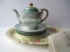 Vintage Tea Party Collection Laughlin Set of Six by jenscloset