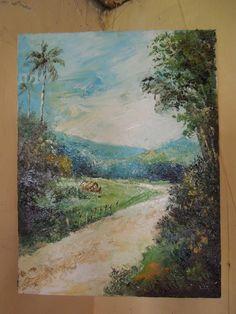 scenery Oil Pain, Canvas 25x35cm By : Budi Haryawan