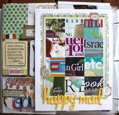 brilliant! // Jenni Hufford - I love her take on all the mail. I've been wanting to do this with all the catalogs we get, but wasn't sure how to incorporate it all!