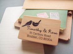 Return Address Stamp Love Birds DIY Weddings di stampcouture
