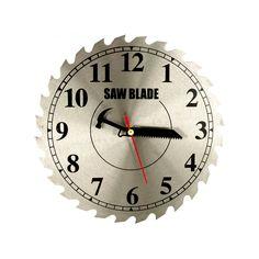 "Kole Imports 11"" Saw Blade Shop Clock"