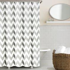 Echelon Home Chevron Shower Curtain
