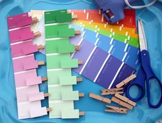 paint chip color matching and pincer grasp