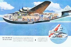 Cutaway view of the massive Boeing 314