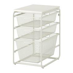 ALGOT Frame/3 mesh baskets/top shelf - IKEA