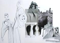 Fashion Sketchbook - fashion drawings, development & design progression; fashion student portfolio // Jegor Pister