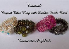 Tutorial for Beaded Right Angle Weave Teardrop by IntricatesByDeb