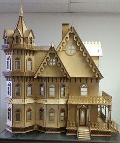 Leon Gothic Victorian Mansion Dollhouse 1:12 (New for 2015)  #LaserDollhouseDesigns