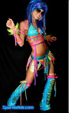 Custom Prism Rave Outfit by SparkleFide on Etsy, $352.00