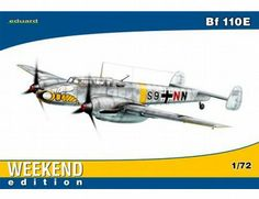 The Eduard Messerschmitt Bf 110E Weekend Edition Model Kit in 1/72 scale from the plastic aircraft model kits range accurately recreates the real life German heavy-fighter aircraft flown during World War II.  This Eduard aircraft model requires paint and glue to complete.