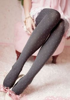 Boxy Tights in Grey - Umm, I like the idea of pink and grey in knitting. Something to think about: