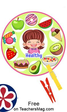 First, the children identify the food on each printable as whether it is healthy or unhealthy. Then, they mark the proper foods with clothespins upon the printables (healthy foods on the healthy printable and unhealthy foods on the unhealthy printable). Healthy Food Activities For Preschool, Nutrition Activities, Sorting Activities, Kids Learning Activities, Healthy And Unhealthy Food, Healthy Foods, Lessons For Kids, Decorating Blogs, Clothespins