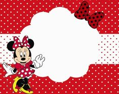Minnie Mouse Birthday Party Invitation Template Free Free Birthday - Minnie mouse 1st birthday invitations templates