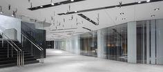 LEMAYMICHAUD | Quebec | Conference Hall | Architecture | Design | Architectural glass | Artowrk | Graphic deisgn | Wood | Black | Gray | White | Tiles