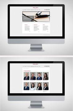 GUERRA-HUERTAS ABOGADOS (Bufete de abogados). #Diseño de página #web