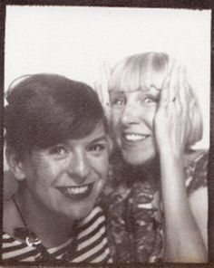 Rosie and Harriet love photobooths! This picture made it into our How to Make Jewellery book.
