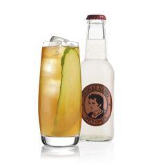 Q!-Borgmann: 5 cl Borgmann, 2 Dashes Angostura Bitters, Saft einer ¼ Limette, Thomas Henry Spicy Ginger  Glas: Longdrink Garnitur: Gurkenscheibe