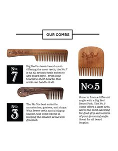 Big Red Trio - Big Red Beard Combs