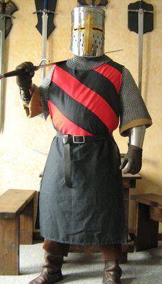 Mittelalterliche Ritter Heraldik SCA Wappenrock Tunika Tabard