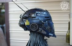 The Nexialist MkIII police class helmet Scifi by Twohornsunited