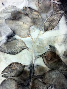 by irit dulman - botanical eco-dyeing on natural fabric