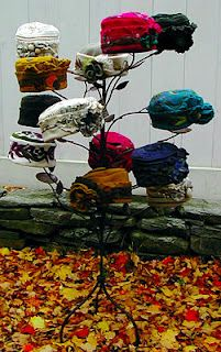 Lastly, from http://www.emerlyearts.blogspot.com a hat tree repurposed to a…