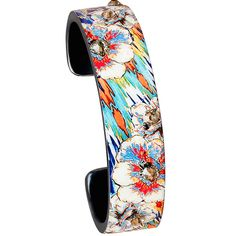 Nano Cuff- Floral Blue Tribal - Debbie Brooks Product. New at Bohland Jewelers!