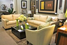 Gomen Cream Sofa & Loveseat - Colleen's Classic Consignment, Las Vegas, NV - www.cccfurnishings.com