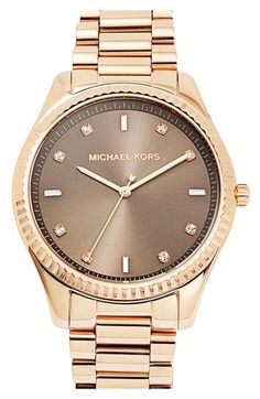 Michael Kors 'Blake' Rose Gold & Warm Grey Bracelet Watch (42mm)